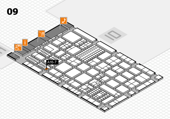 ProWein 2017 hall map (Hall 9): stand A16-7