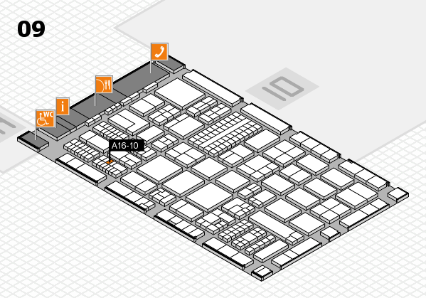 ProWein 2017 hall map (Hall 9): stand A16-10