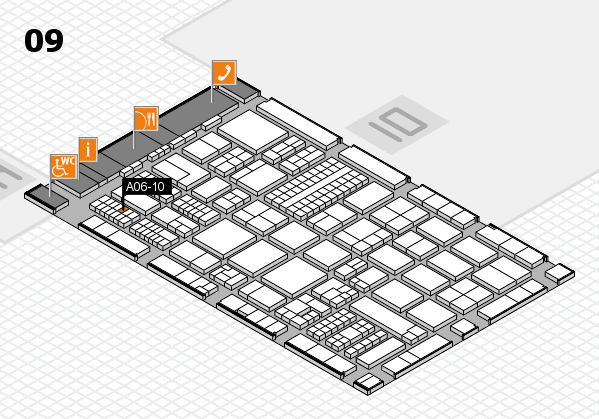 ProWein 2017 hall map (Hall 9): stand A06-10