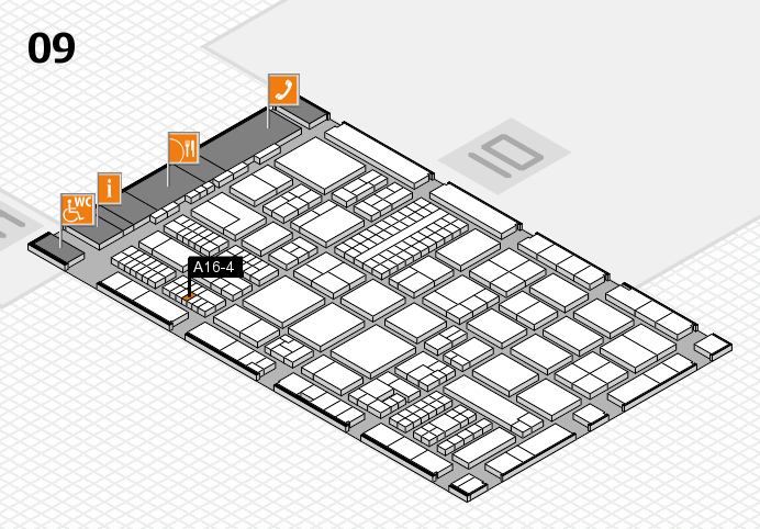 ProWein 2017 hall map (Hall 9): stand A16-4