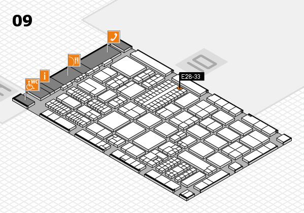 ProWein 2017 Hallenplan (Halle 9): Stand E28-33