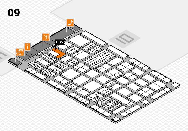 ProWein 2017 hall map (Hall 9): stand E05