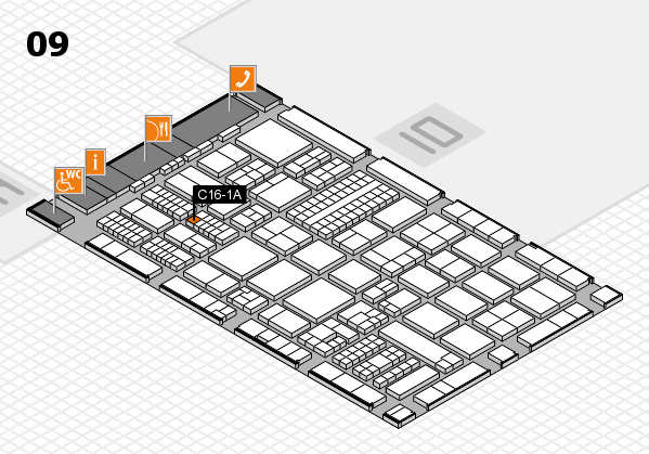 ProWein 2017 hall map (Hall 9): stand C16-1A