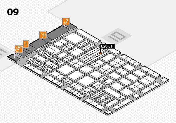 ProWein 2017 Hallenplan (Halle 9): Stand E28-31