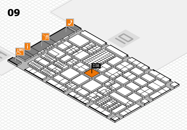 ProWein 2017 Hallenplan (Halle 9): Stand D38