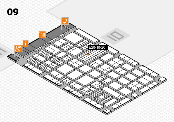 ProWein 2017 Hallenplan (Halle 9): Stand E28-18-20