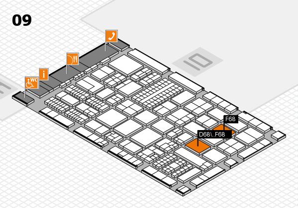 ProWein 2017 Hallenplan (Halle 9): Stand D68, Stand F68