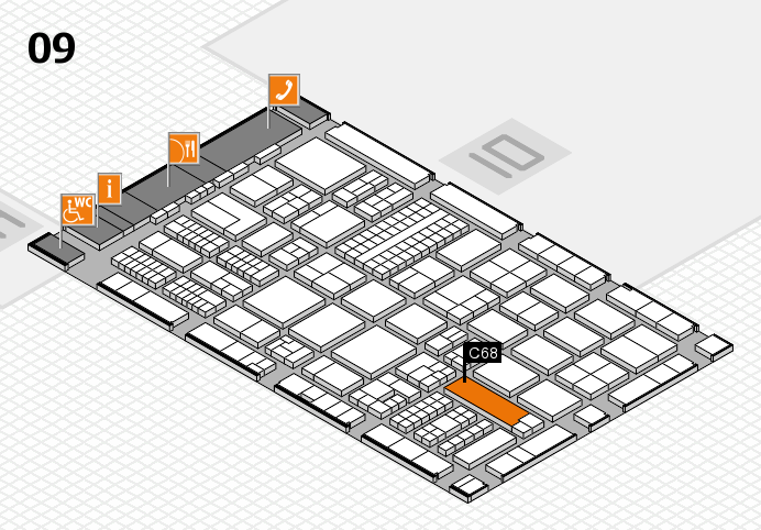 ProWein 2017 hall map (Hall 9): stand C68