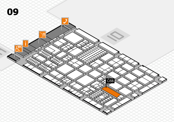 ProWein 2017 Hallenplan (Halle 9): Stand C68