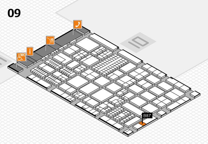 ProWein 2017 hall map (Hall 9): stand B87