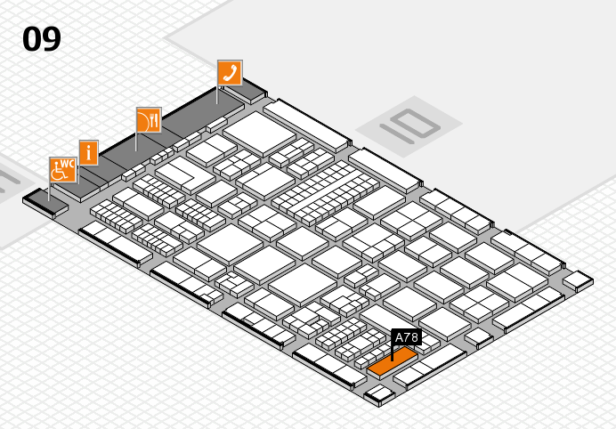 ProWein 2017 hall map (Hall 9): stand A78
