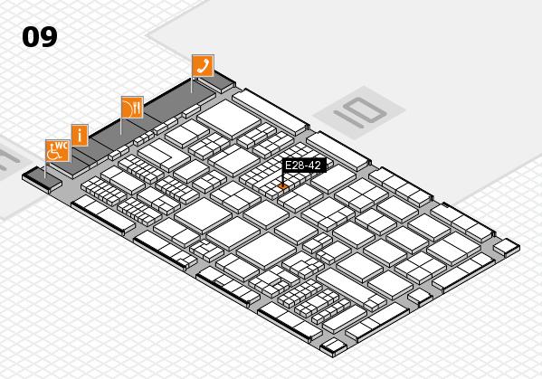 ProWein 2017 Hallenplan (Halle 9): Stand E28-42