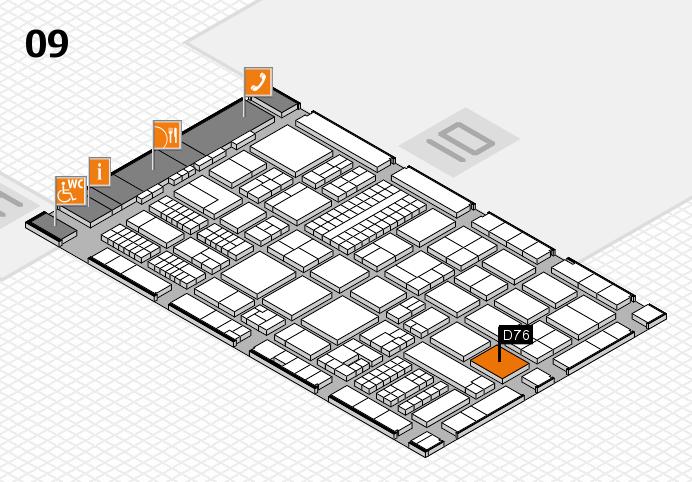 ProWein 2017 Hallenplan (Halle 9): Stand D76