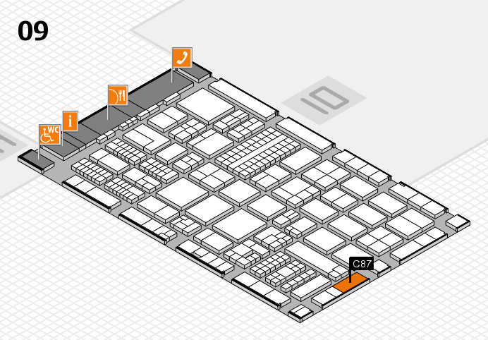 ProWein 2017 hall map (Hall 9): stand C87