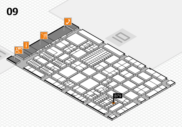 ProWein 2017 hall map (Hall 9): stand B79
