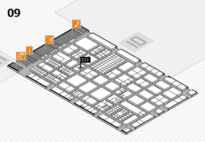 ProWein 2017 hall map (Hall 9): stand E23