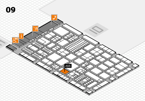 ProWein 2017 hall map (Hall 9): stand A56