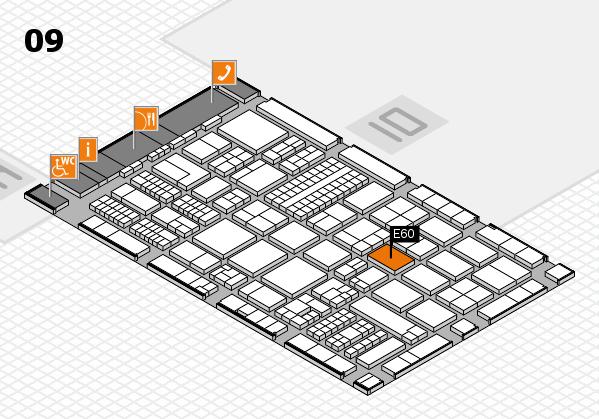 ProWein 2017 hall map (Hall 9): stand E60