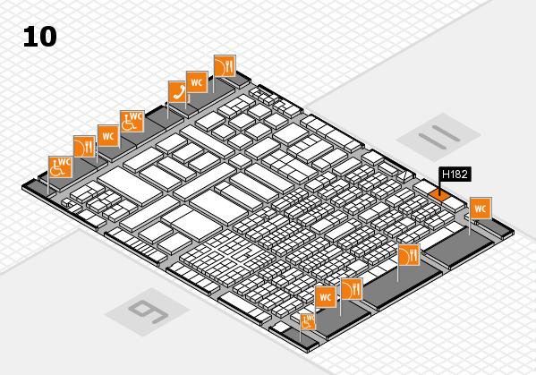 ProWein 2017 Hallenplan (Halle 10): Stand H182