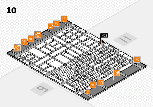 ProWein 2017 hall map (Hall 10): stand H62