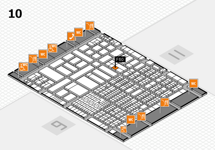 ProWein 2017 hall map (Hall 10): stand F60