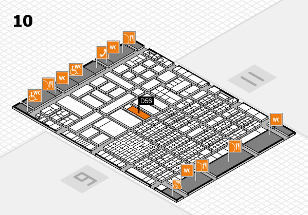ProWein 2017 hall map (Hall 10): stand D56
