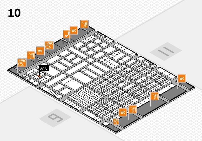 ProWein 2017 Hallenplan (Halle 10): Stand A18