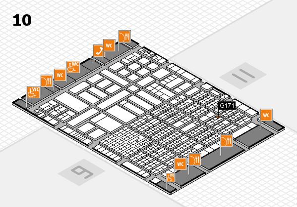 ProWein 2017 Hallenplan (Halle 10): Stand G171