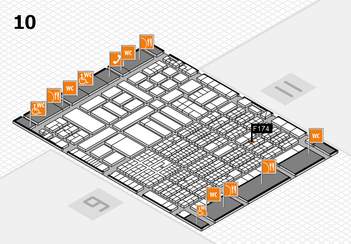 ProWein 2017 hall map (Hall 10): stand F174