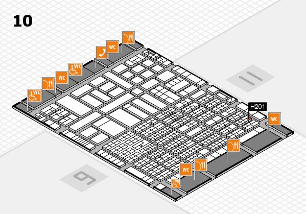 ProWein 2017 Hallenplan (Halle 10): Stand H201