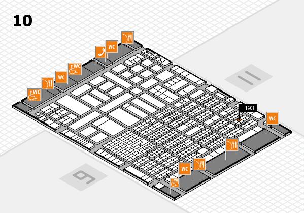 ProWein 2017 Hallenplan (Halle 10): Stand H193