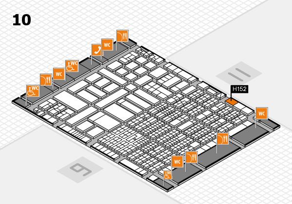 ProWein 2017 Hallenplan (Halle 10): Stand H152