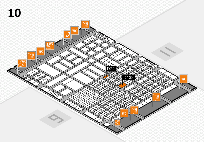 ProWein 2017 hall map (Hall 10): stand D132, stand D72