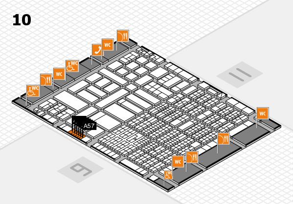 ProWein 2017 Hallenplan (Halle 10): Stand A47, Stand A57