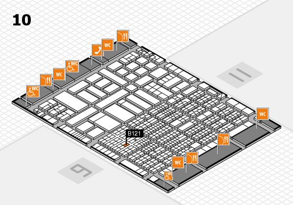 ProWein 2017 hall map (Hall 10): stand B121