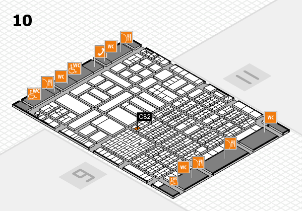 ProWein 2017 hall map (Hall 10): stand C82
