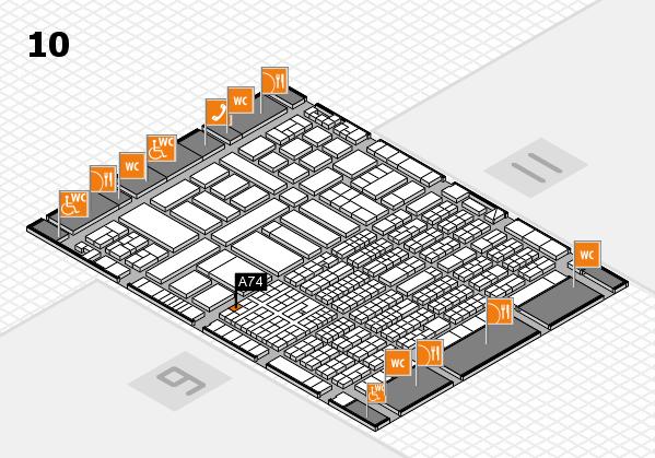 ProWein 2017 Hallenplan (Halle 10): Stand A74