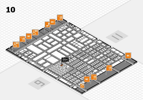 ProWein 2017 hall map (Hall 10): stand B94