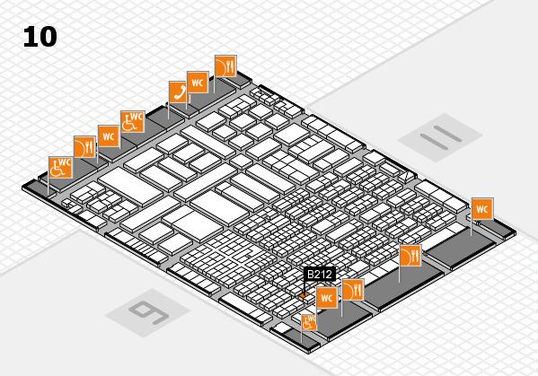 ProWein 2017 hall map (Hall 10): stand B212