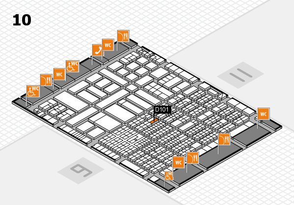 ProWein 2017 hall map (Hall 10): stand D101