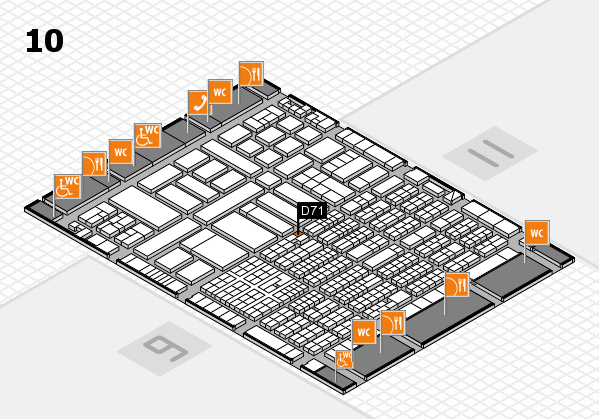 ProWein 2017 hall map (Hall 10): stand D71