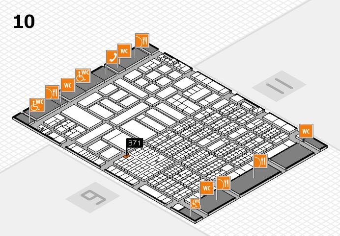 ProWein 2017 hall map (Hall 10): stand B71