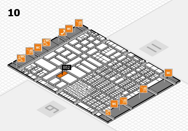 ProWein 2017 hall map (Hall 10): stand B52