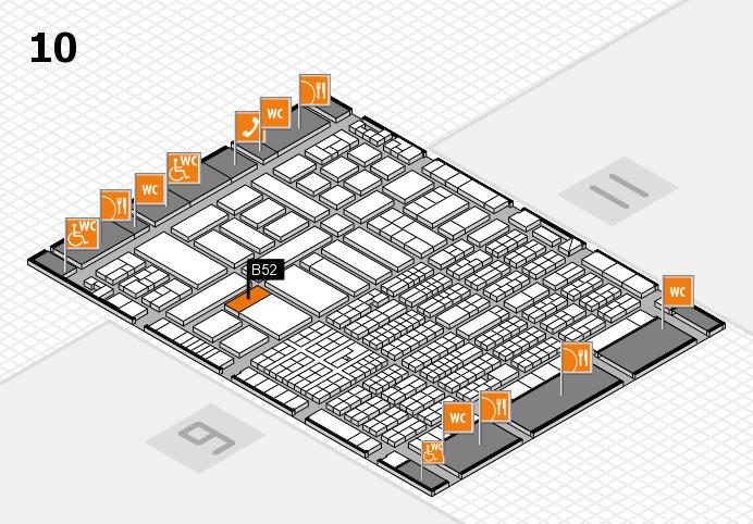 ProWein 2017 Hallenplan (Halle 10): Stand B52