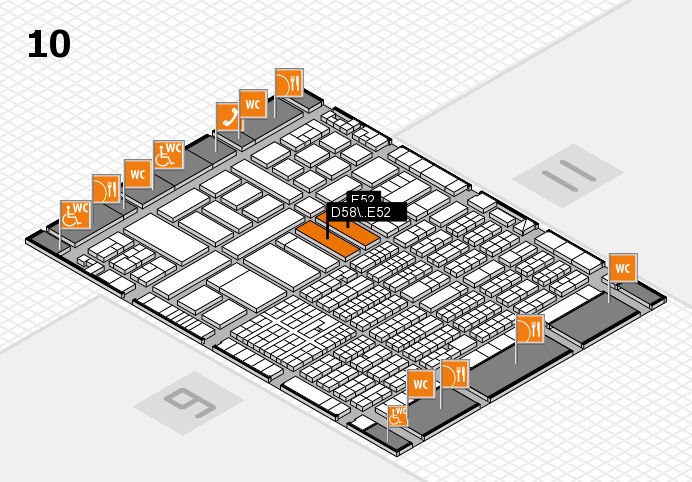 ProWein 2017 hall map (Hall 10): stand D58, stand E52
