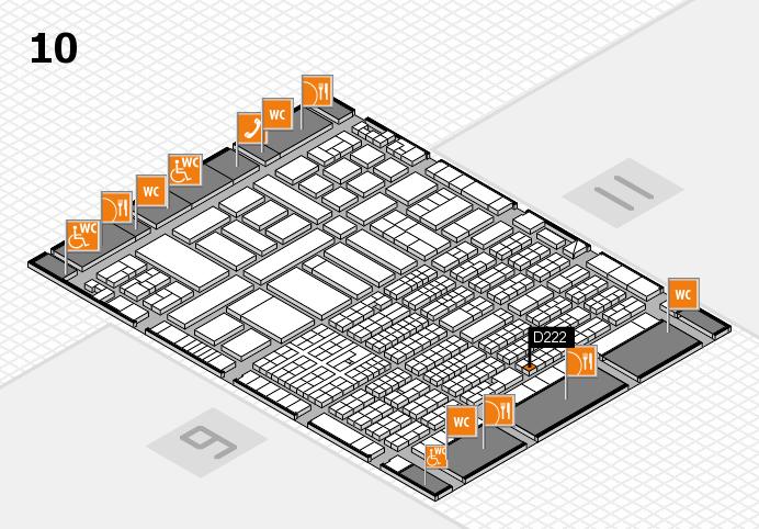 ProWein 2017 Hallenplan (Halle 10): Stand D222