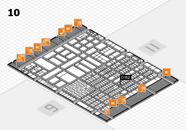 ProWein 2017 hall map (Hall 10): stand D182