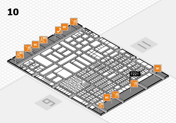 ProWein 2017 Hallenplan (Halle 10): Stand F221