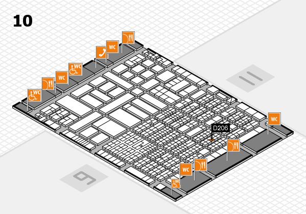 ProWein 2017 Hallenplan (Halle 10): Stand D206