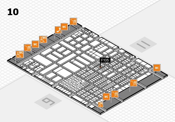 ProWein 2017 Hallenplan (Halle 10): Stand F105